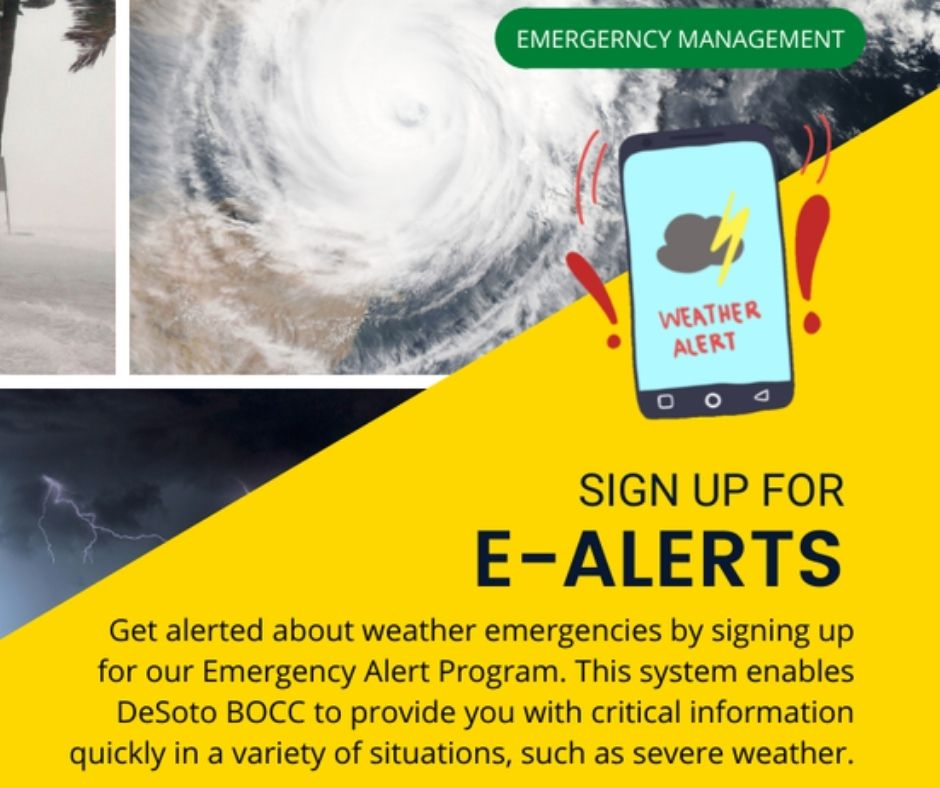 DeSoto County Citizens May Sign Up For Emergency Alerts